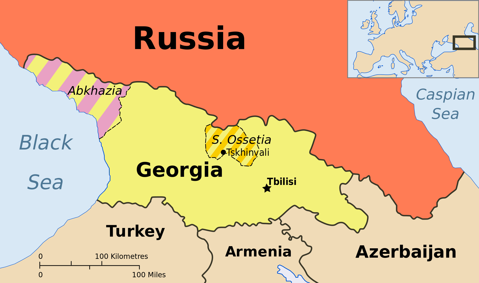Map Of West Georgia.Why The West Sees South Ossetia As A Threat To Its Democratic Values